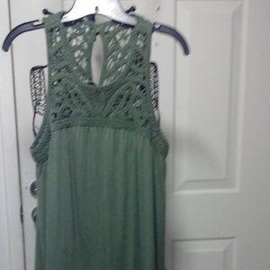 Loft dress olive green NWT XL